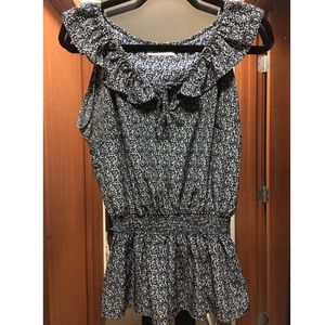 Romy Tops - Silky, Patterned Top
